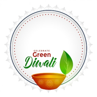 Diwali verde con espacio de texto