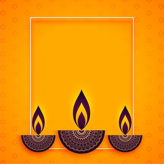Diya de estilo étnico para el festival de diwali