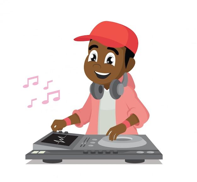 Dj tocando ritmos musicales.