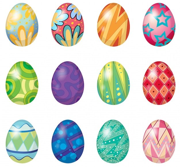 Doce huevos de pascua