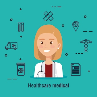 Doctor carácter médico asistencia sanitaria