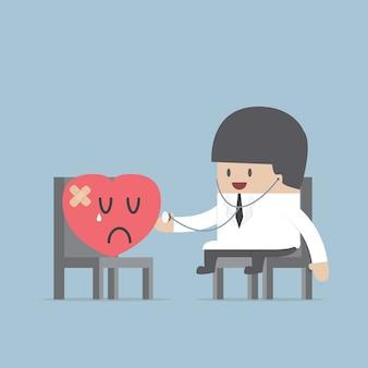 Doctor con un corazón herido