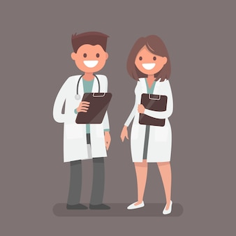Doctor y una enfermera.