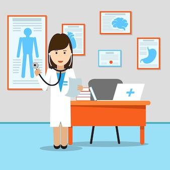 Doctor en medicina en el lugar de trabajo
