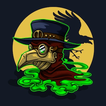 Doctor plaga stefmpunk personaje de halloween