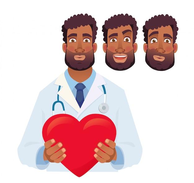 Doctor, tenencia, corazón rojo