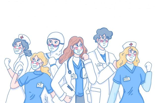 Doctor trabajo en equipo