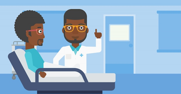 Doctor visitando paciente.