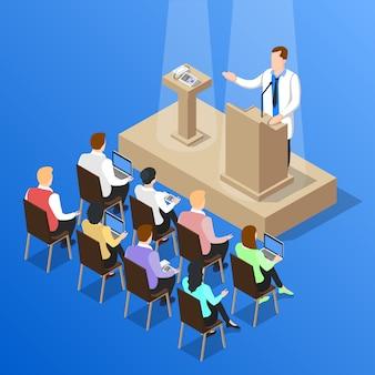 Doctores conferencia hablar composición