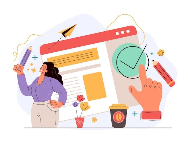 El documento de acuerdo de usuario digital confirma el concepto en línea del sitio web