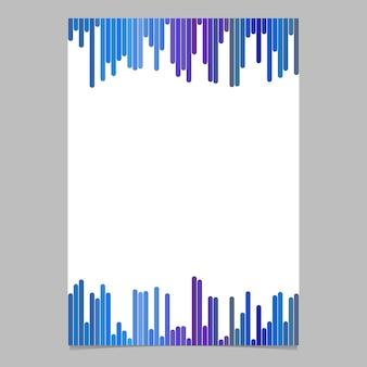 Documento de diseño de la plantilla de franjas verticales - ilustración vectorial de folleto con fondo blanco
