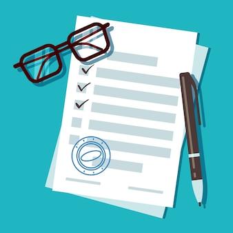 Documento de formulario de solicitud de préstamo.