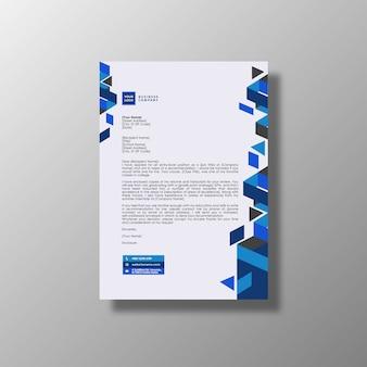 Documento de negocios blanco y azul