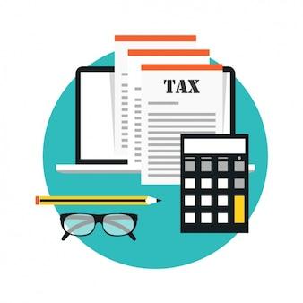 Documentos financieros con una calculadora