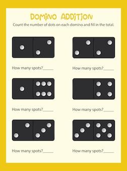 Domino couting math worksheet
