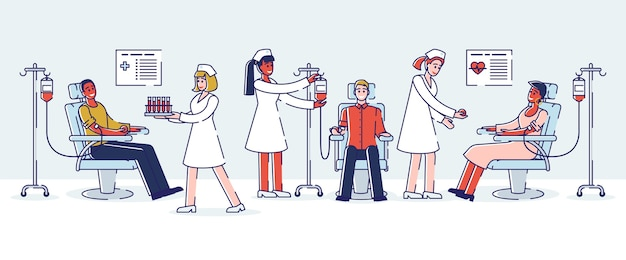 Donación de sangre, concepto del día mundial del donante de sangre.
