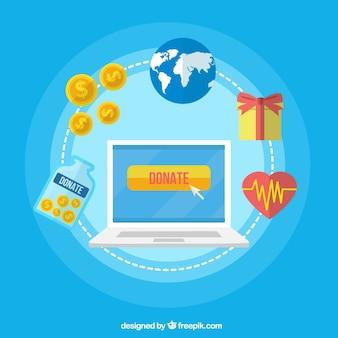 Donaciones en internet