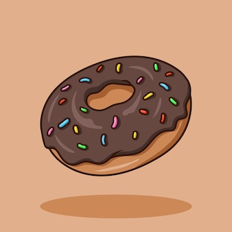 Donut art cartoon vector aislado