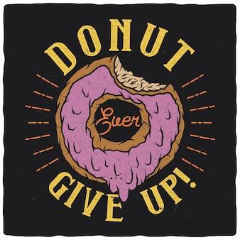 Donut mordido impresionante ilustración