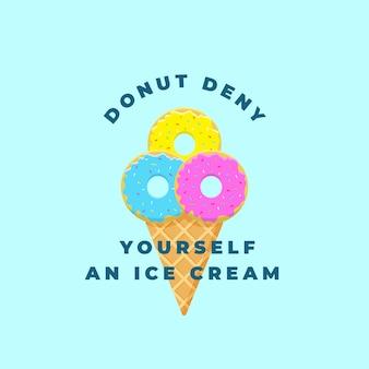 Donut niéguese un helado.