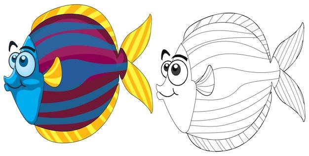 Doodle animal para peces