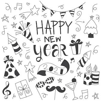 Doodle de año nuevo
