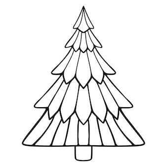 Doodle árbol de navidad.
