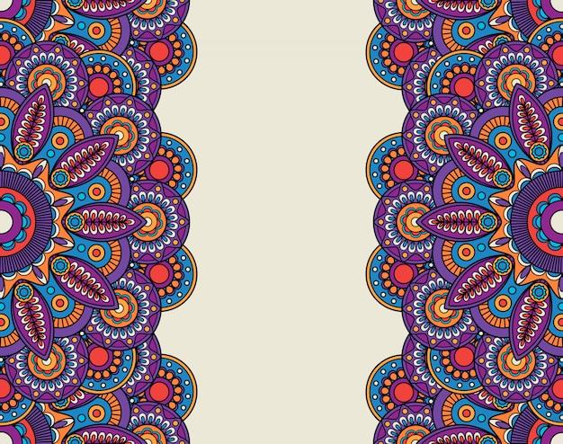 Doodle bordes florales adornados