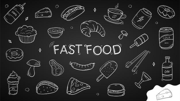 Doodle de comida rápida