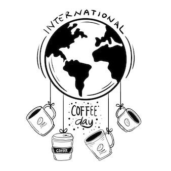 Doodle día internacional del café
