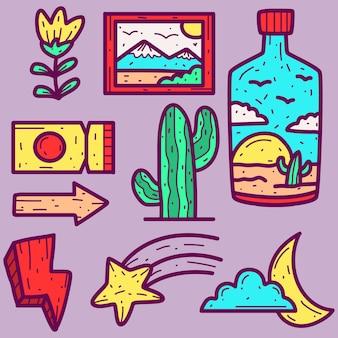 Doodle de dibujos animados abstractos