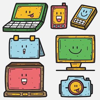 Doodle de dibujos animados electrónicos