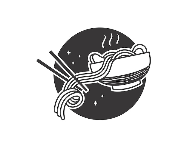 Doodle diseño de fideos japoneses