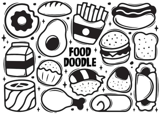 Doodle de elemento de comida