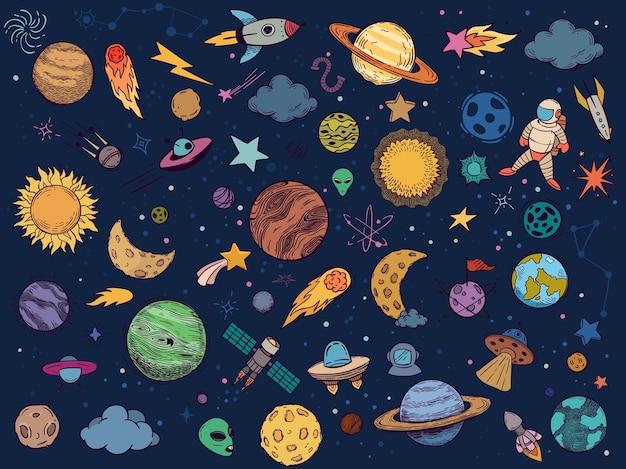 Doodle de espacio de color