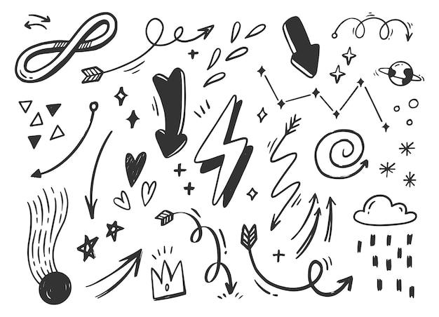 Doodle de garabatos abstractos dibujados a mano