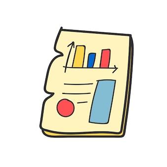 Doodle de gráfico de informe empresarial