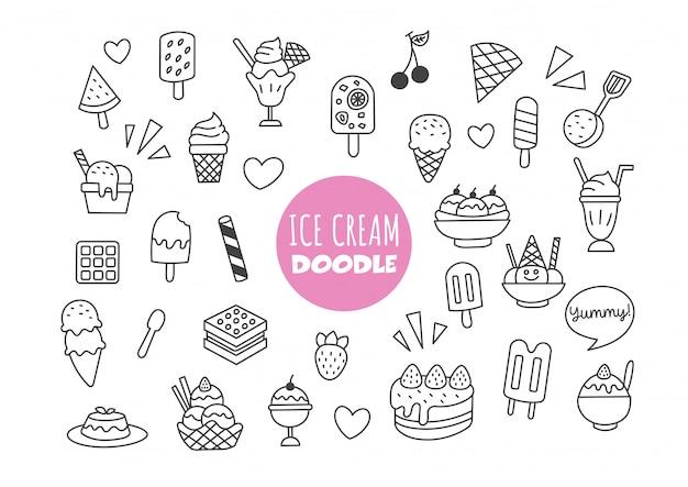 Doodle de helado