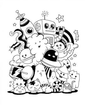 Doodle ilustración de arte