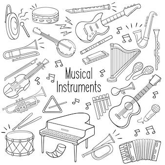 Doodle de instrumentos musicales