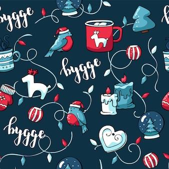 Doodle lindo telón de fondo de navidad