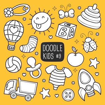 Doodle de niños dibujados a mano