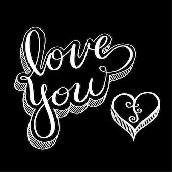 Doodle para el concepto de amor para san valentín y boda.