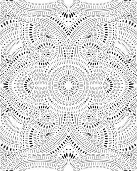 Doodle patrón abstracto sin fisuras