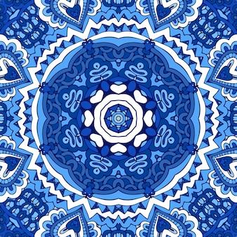 Doodle patrón de vector transparente de fondo de invierno ornamental abstracto