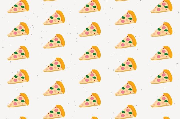 Doodle de patrones sin fisuras pizza