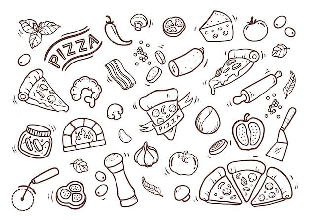 Doodle de pizza caliente