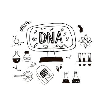 Doodle símbolos del genoma.