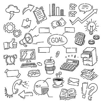 Doodle tematico de negocios