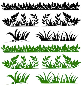 Doodles diseño para las hierbas Vector Premium